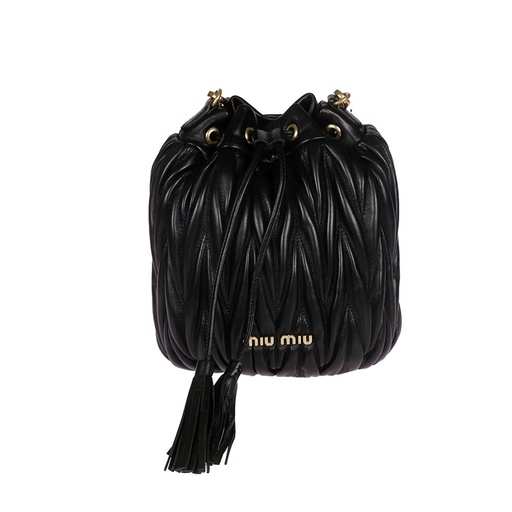 MIU MIU MATELASSE LEATHER BUCKET BAG